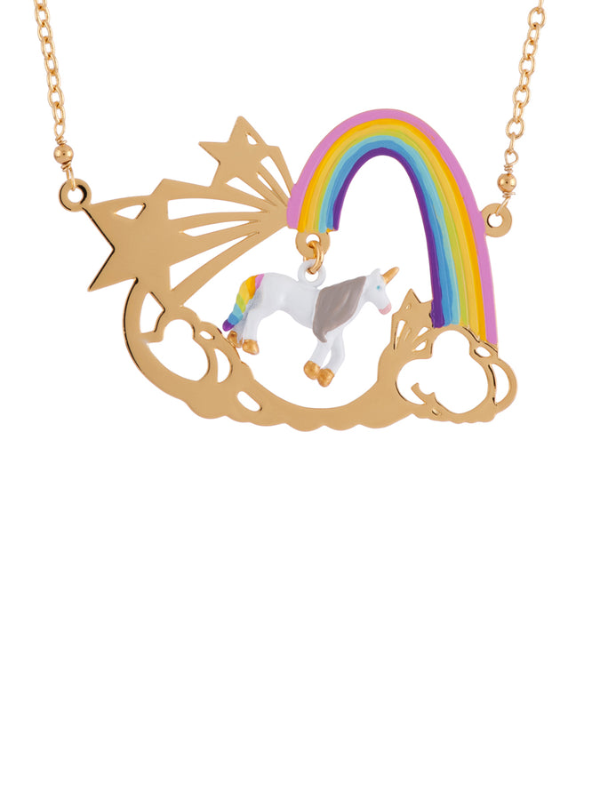 Unique Unicorn and Rainbow Necklace