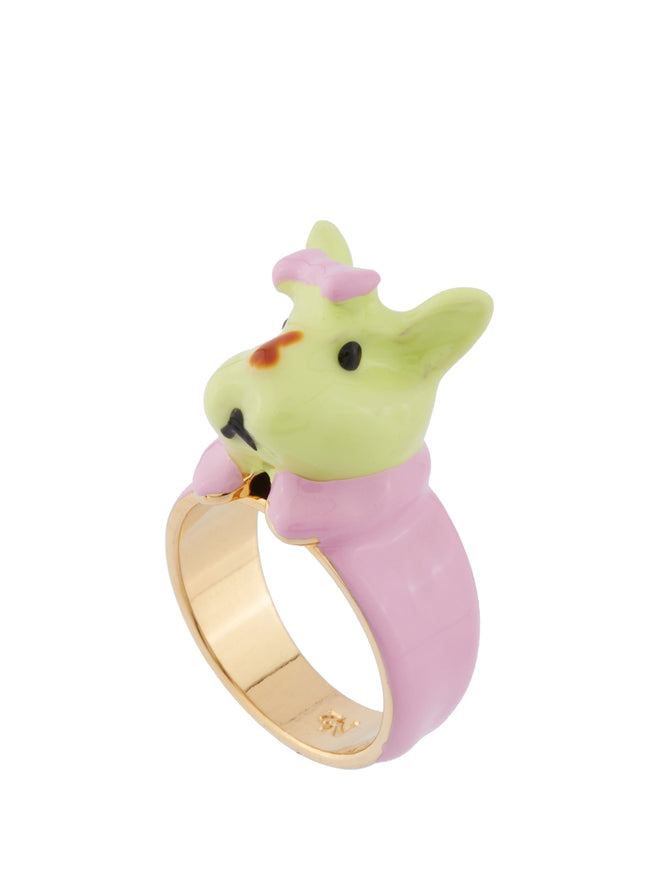 Les Nereides Loves Animals Rabbit Brother In His Schoolchild Outfit Ring - Multicolor Alternate View