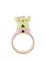 Les Nereides Loves Animals Rabbit Brother In His Schoolchild Outfit Ring - Multicolor