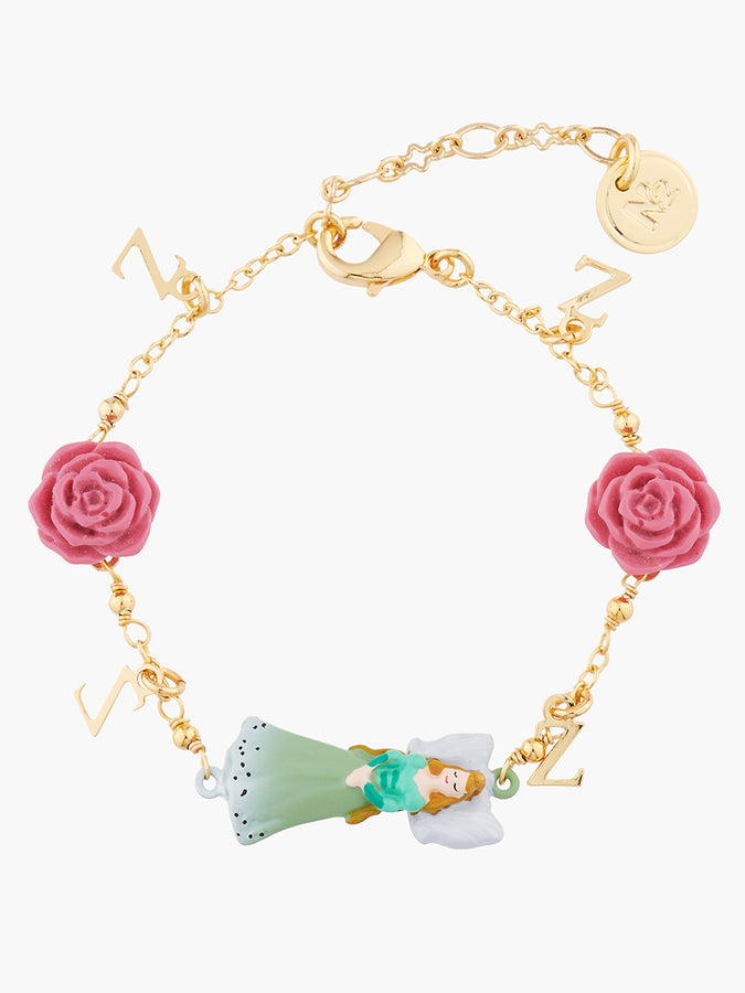 Sleeping Beauty And Roses Thin Chain Bracelet