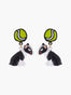 N2 X Les Nereides Loves Animals Bull Terrier And Tennis Ball Stud Earrings