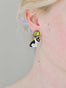 N2 X Les Nereides Loves Animals Bull Terrier And Tennnis Ball Clip On Earrings Alternate View