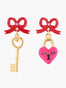 N2 X Roca Balboa Key And Heart Asymetrical Stud Earrings