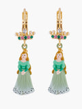 Sleeping Beauty And Crown Dormeuses Earrings