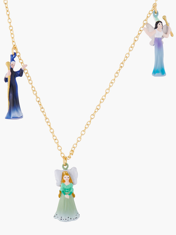 Sleeping Beauty And Fairies Pendant Necklace