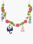 Sleeping Beauty Belle Endormie And Bed Roses Collar Necklace