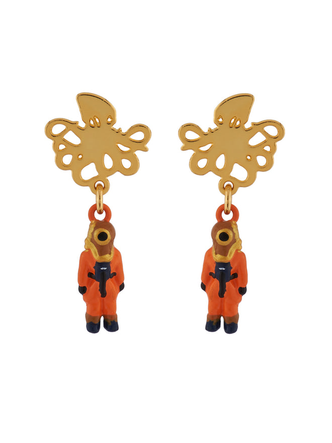 Once Upon A Time Octopus and Deep-Sea Diver Earrings