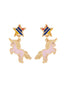 The Two Make A Pair Girly Unicorn Earrings