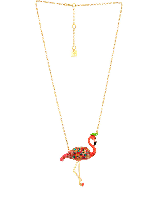 Kind and Happy Francis The Flamingo Necklace Alternate View