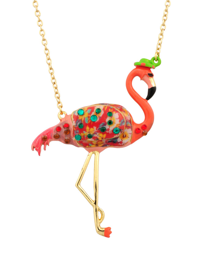 Kind and Happy Francis The Flamingo Necklace