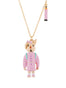 Les Nereides Loves Animals Rabbit Sister In Her Schoolchild Outfit and Charms Necklace