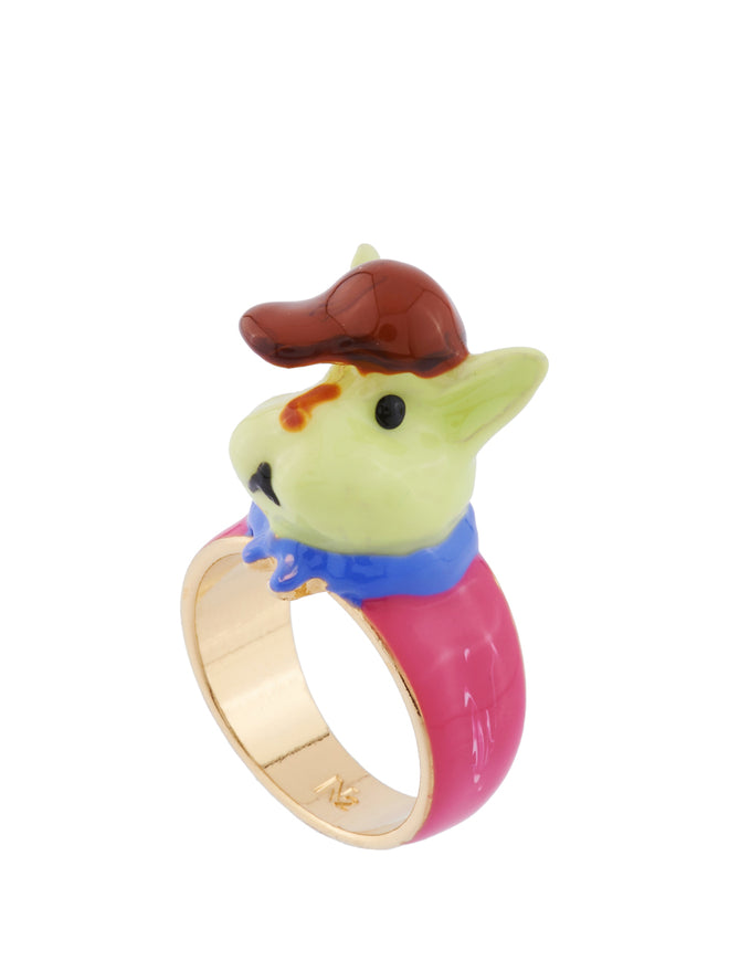 Les Nereides Loves Animals Rabbit Sister In Her Schoolchild Outfit Ring - Pink Alternate View