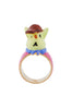 Les Nereides Loves Animals Rabbit Sister In Her Schoolchild Outfit Ring - Pink