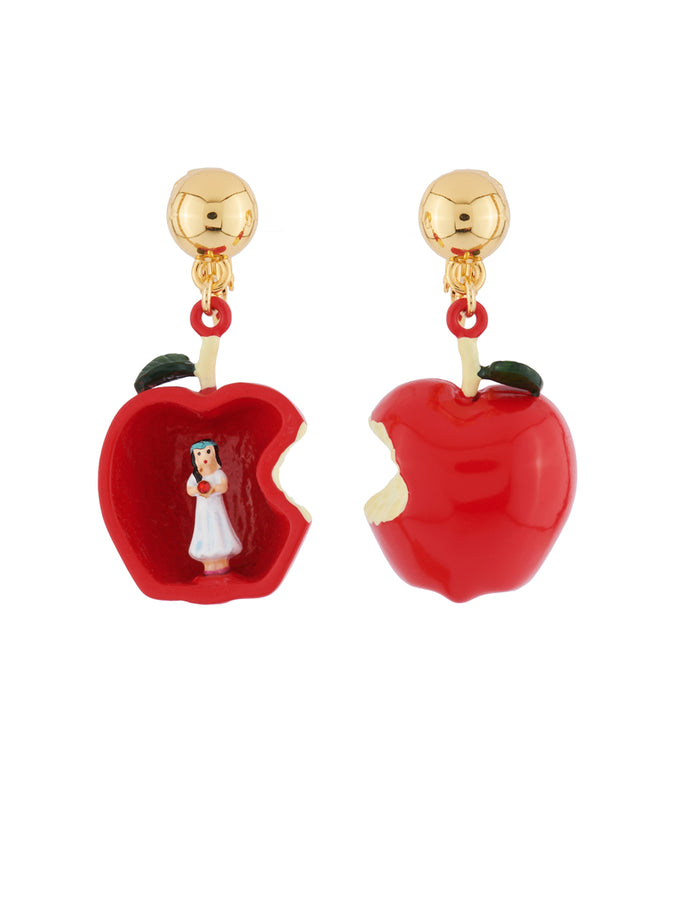 Snow White In The Heart of The Poisoned Apple Clip Earrings