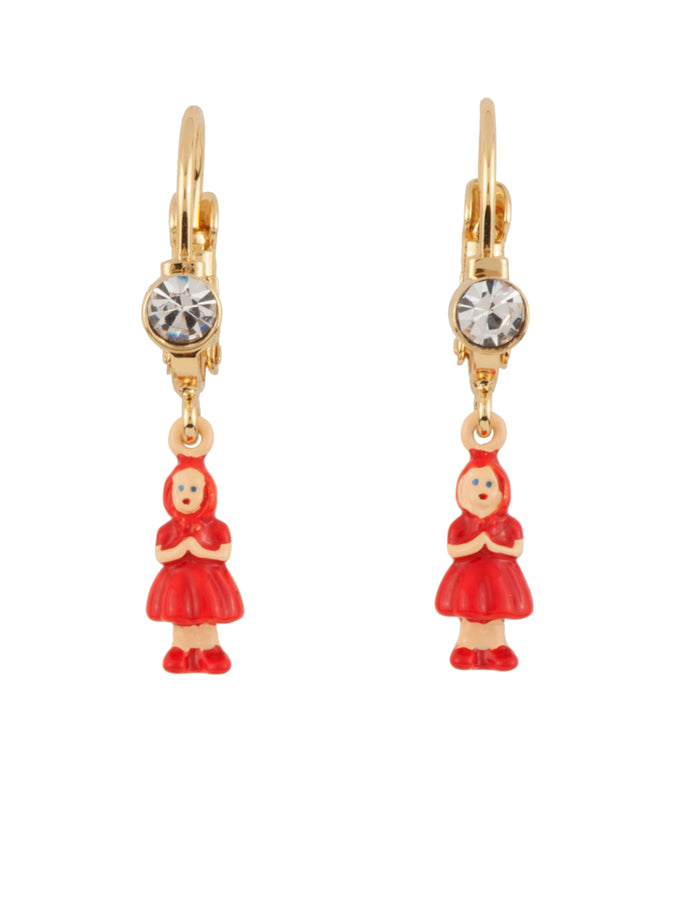 Into The Woods Miniature Little Red Riding Hood Earrings