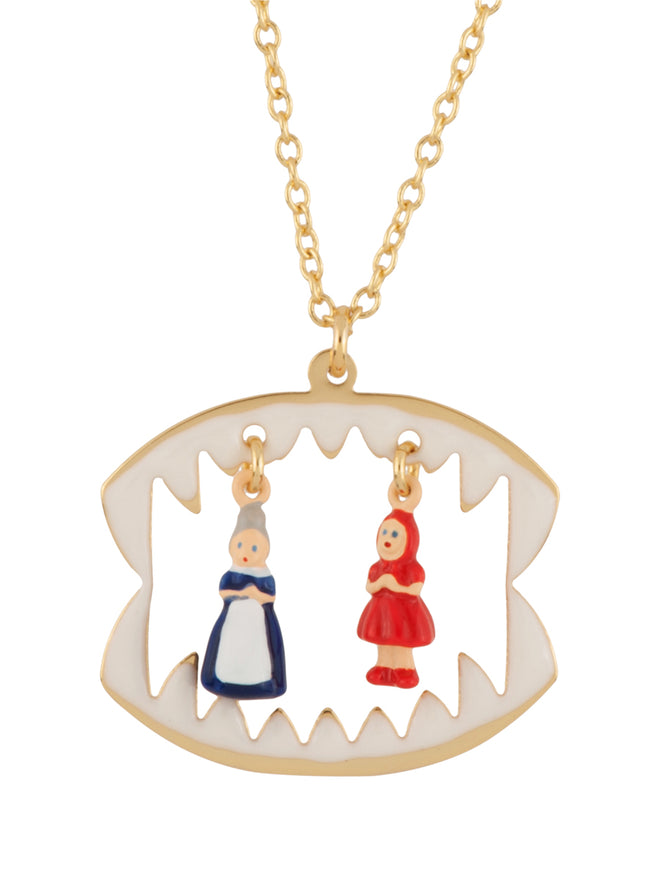 Into The Woods Litlle Red Riding Hood and The Grandmother In The Wolf's Maw Necklace