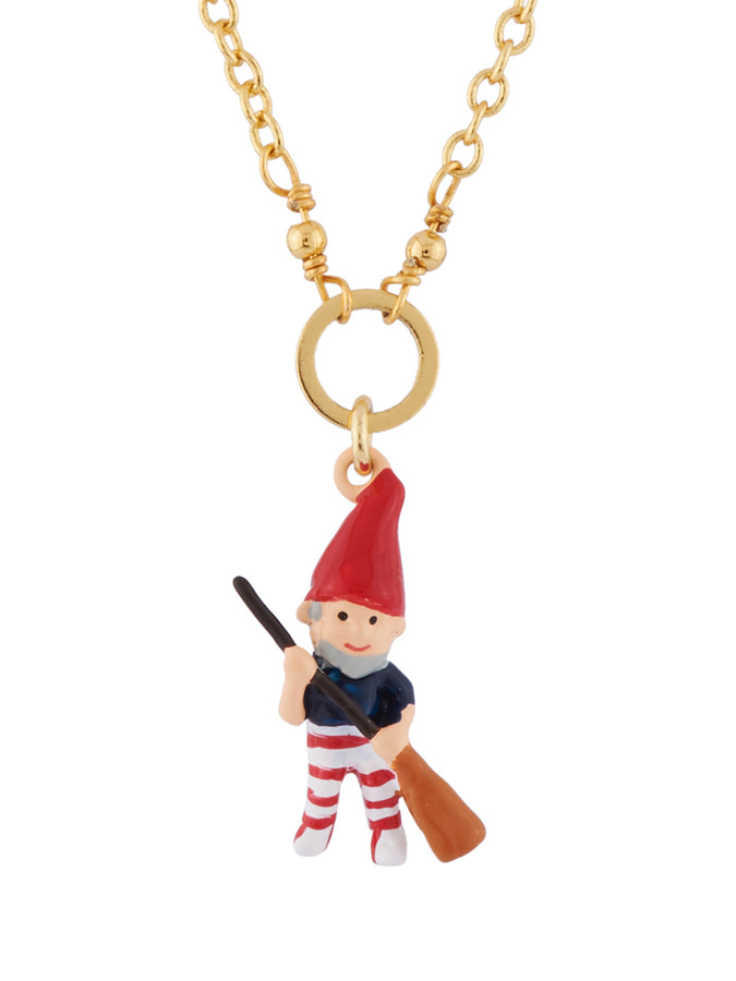Snow White Sweeping Dwarf Necklace