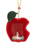 Snow White and The 7 Dwarfs at The Heart of The Poisoned Apple Long Necklace