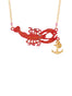Under The Ocean Lobster and Anchor Necklace