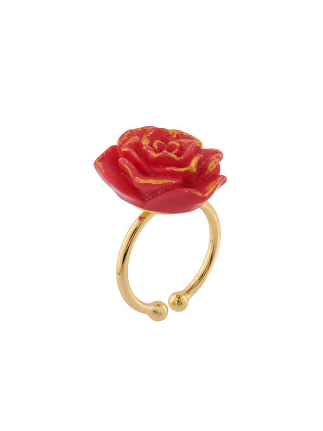 Beauty Like Beast Red Rose Ajustable Ring Alternate View