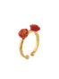 Beauty Like Beast The Beauty and Red Roses Set of 2 Adjustable Rings Alternate View