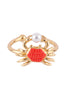 I Am A Mermaid Little Crab Adjustable Ring