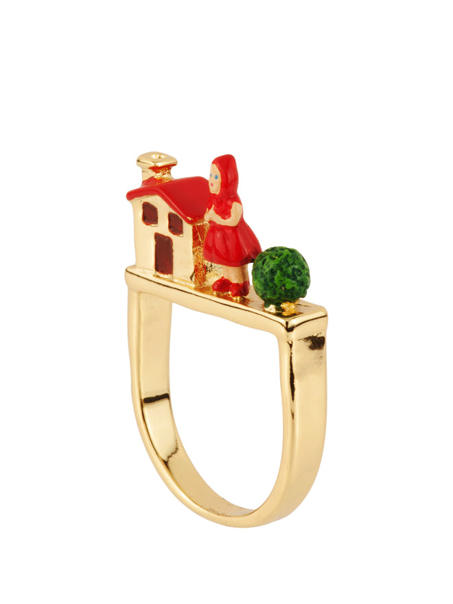 Into The Woods Little Red Riding Hodd and The Grandmother's House Ring - Red Alternate View
