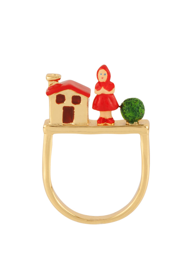 Into The Woods Little Red Riding Hodd and The Grandmother's House Ring - Red