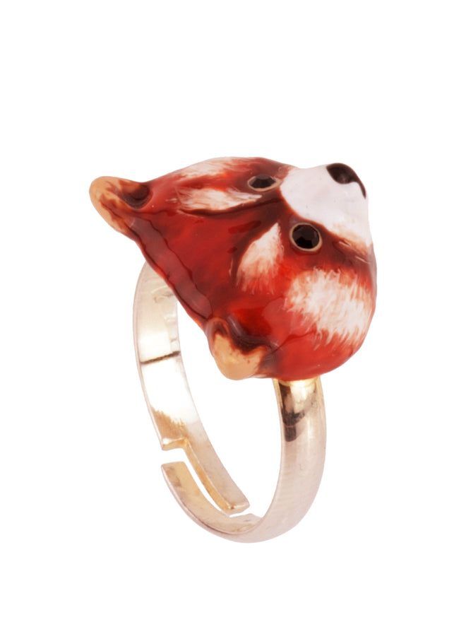 Kind and Happy Leonie The Red Panda Adjustable Ring Alternate View