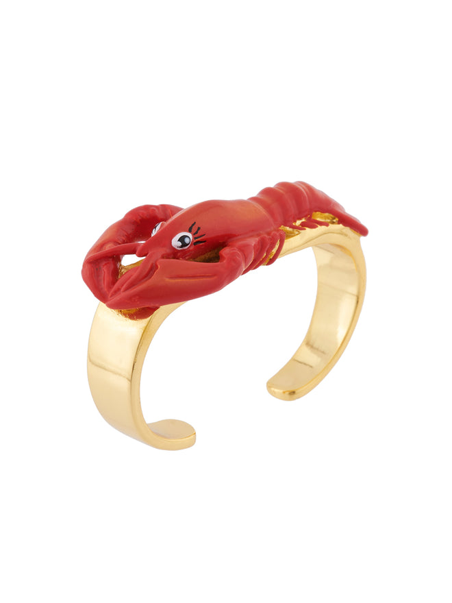 Under The Ocean Lobster Two-Fingers Ring Alternate View