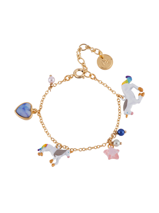 Unique Unicorn and Charms Bracelet