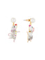 Animals Circus Dancer mouses asymmetrical dangling stud earrings Alternate View