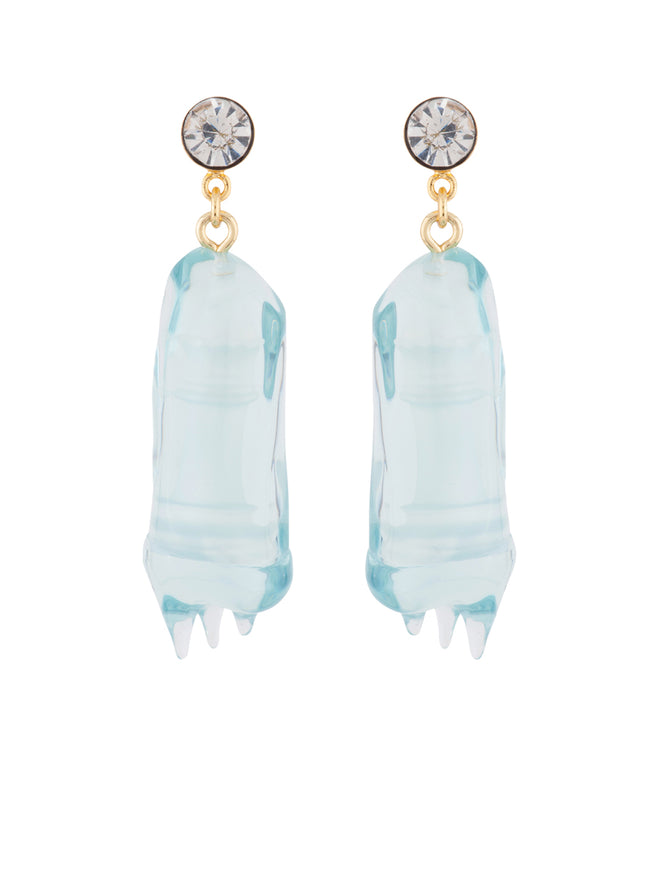 Snow Kingdom Ice-Covered Pawn Earrings