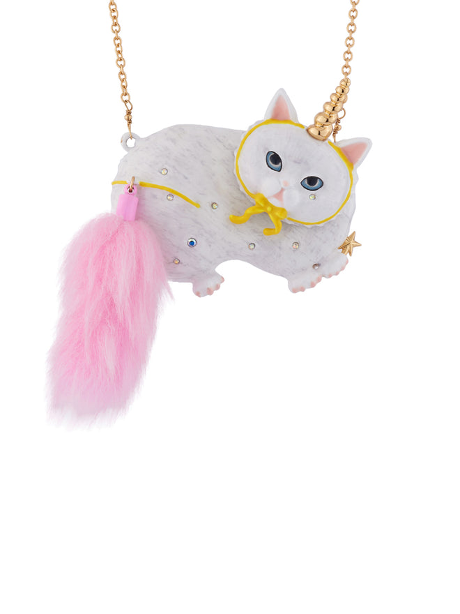 Kind and Happy Edgar The Persian Cat In A Unicorn Costume Necklace