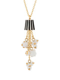 So Sweet Striped Buket and Cascade of Popcorn Necklace
