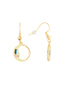 Animals Circus moon and star assymetrical dangling hook earrings Alternate View