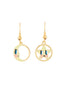 Animals Circus moon and star assymetrical dangling hook earrings