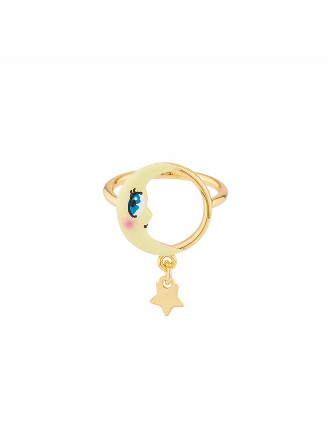 Animals Circus Moon ring - Yellow
