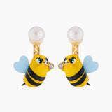 Honeybee Clip On Earrings
