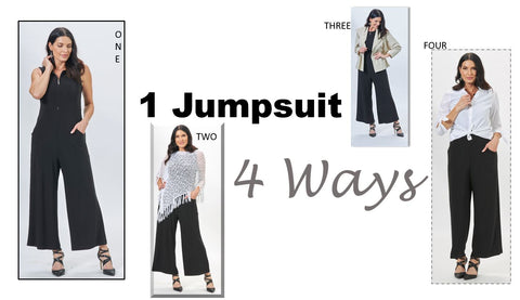 one jumpsuit worn 4 ways travel style