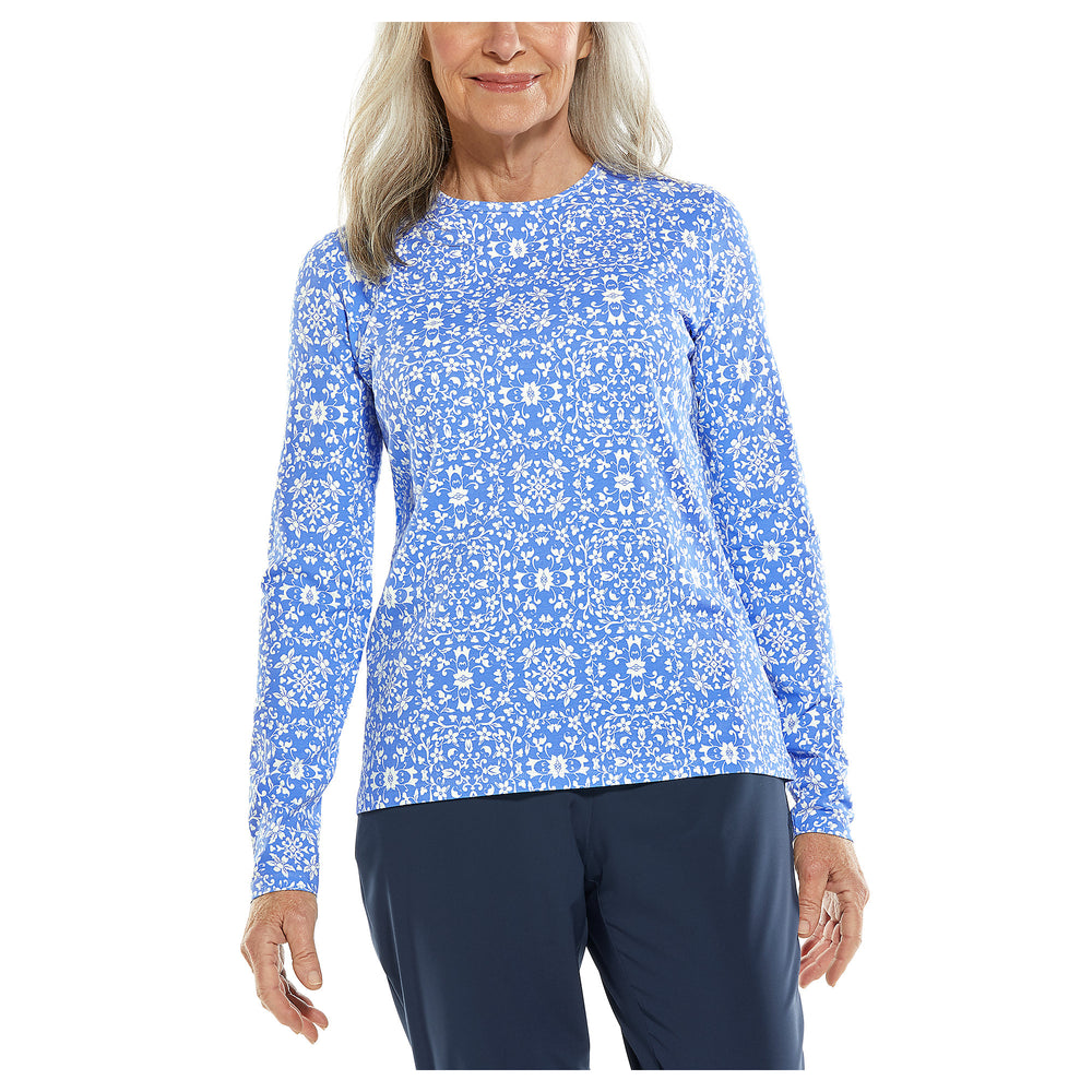 Everyday Long Sleeve Printed T-Shirt | Coolibar - Patchington
