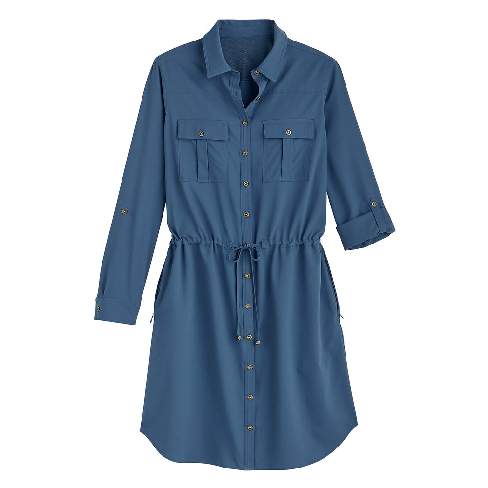 Napa Travel Shirt Dress | Coolibar - Patchington