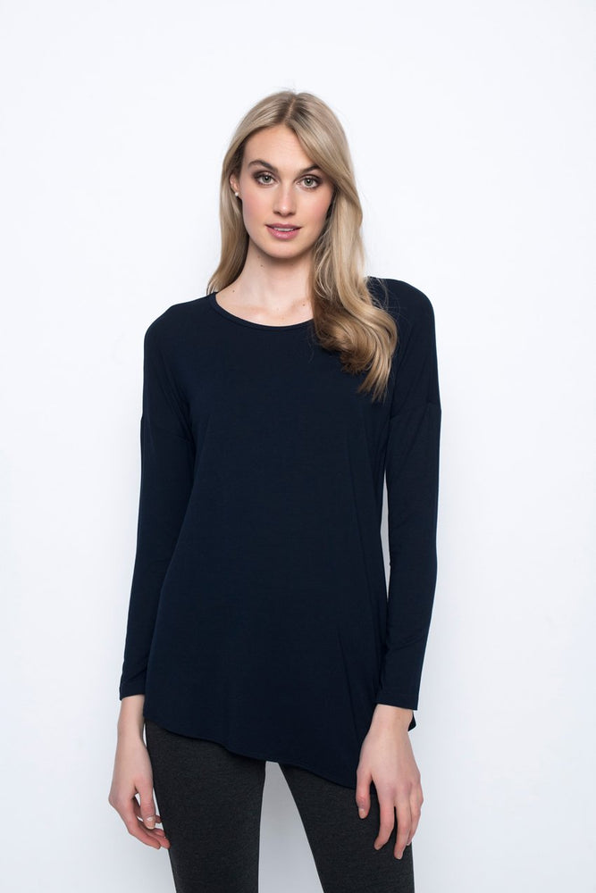 Asymmetric Hem Top | Picadilly - Patchington