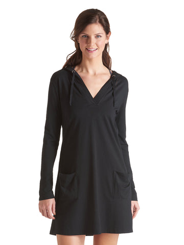Black Beach Cover-Up Dress