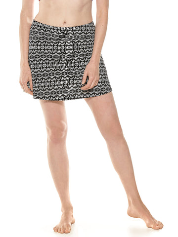 Womens Black Sandbar Swim Skort