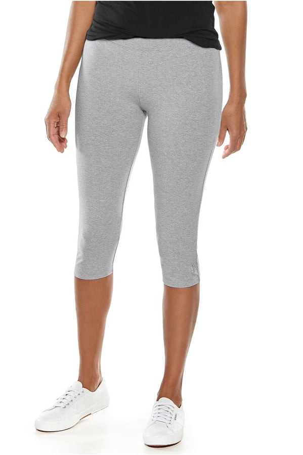 Womens Grey Summer Capris