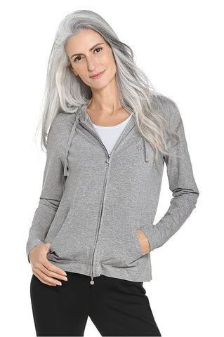 Womens Grey Seaside Hoodie