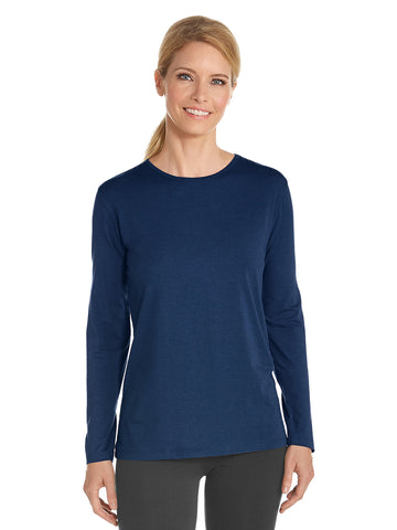 Womens Navy Everyday Long Sleeve T-Shirt