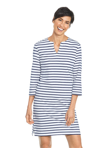 Womens White/Navy Oceanside Tunic Dress