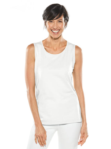 Womens White Everyday Basic Tank